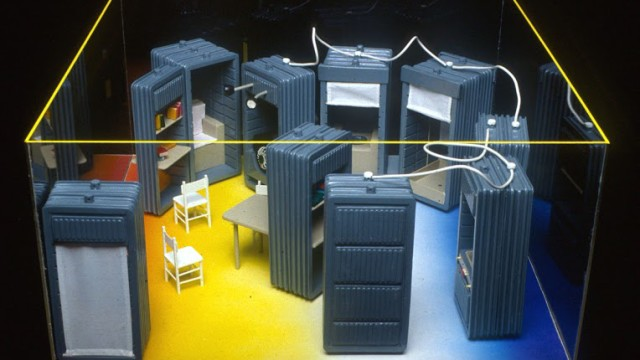 """Ettore Sottsass Jr, Environment section from """"The New Domestic Landscape"""", New York, USA, 1972"""