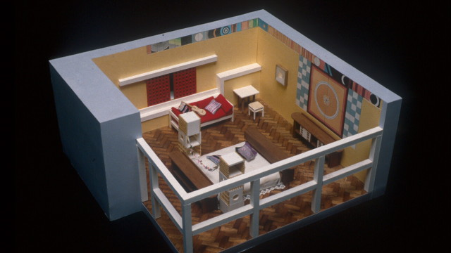 Ettore Sottsass, Bedroom for the exhibition in Florence, Florence, Italy, 1965