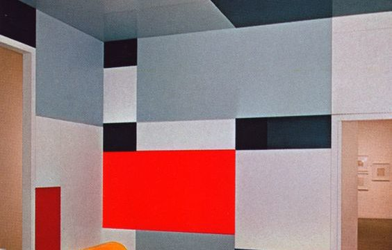 Mondrian, Madame B's living-room, Dresde, Germany, 1926